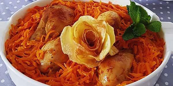طرز تهیه خورش هویج با مرغ و آلو