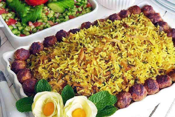 طرز تهیه کلم پلو شیرازی