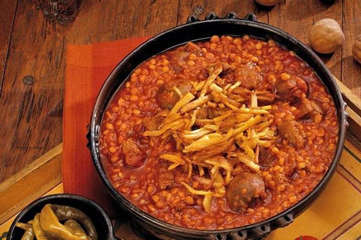 طرز تهیه خورش قیمه با گوشت شترمرغ
